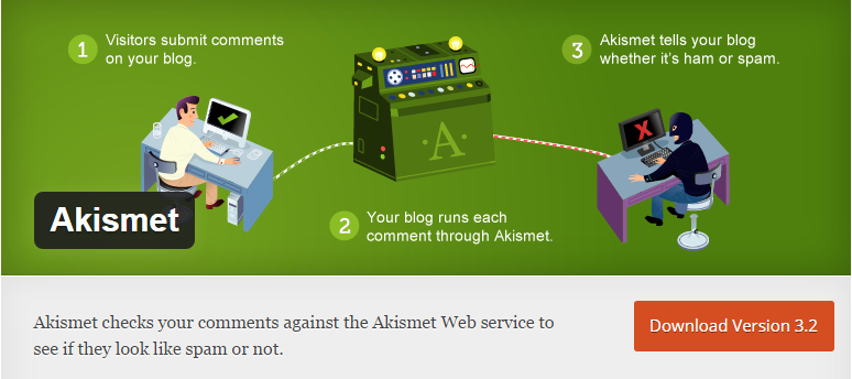 Akismet Free WordPress Pluging for Blogging