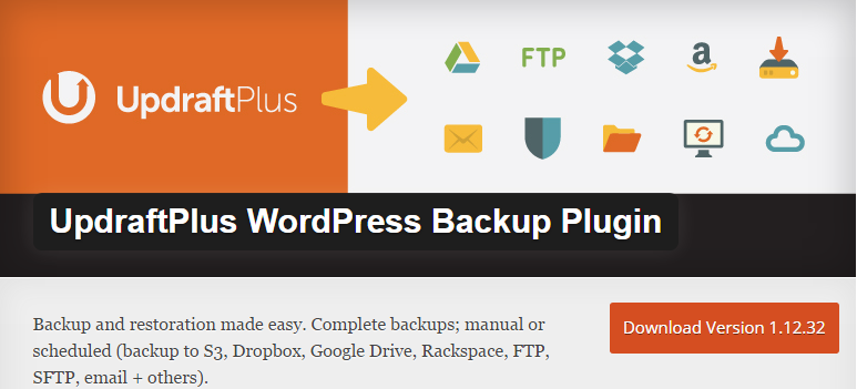 UpdraftPlus WordPress Backup Plguin