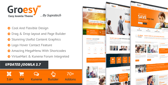 Groesy multipurpose joomla template
