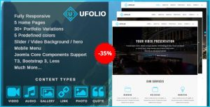 Ufolio multi purpose joomla template
