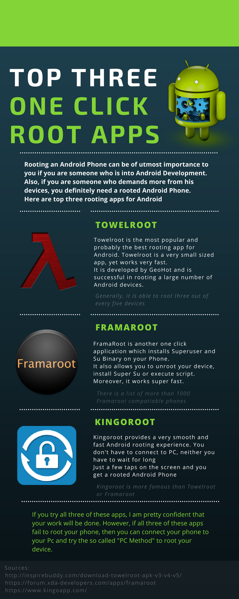 Top Three One Click Rooting Apps for Android