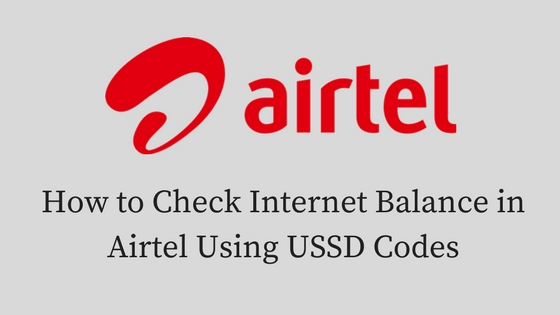 How to Check Internet Balance in Airtel