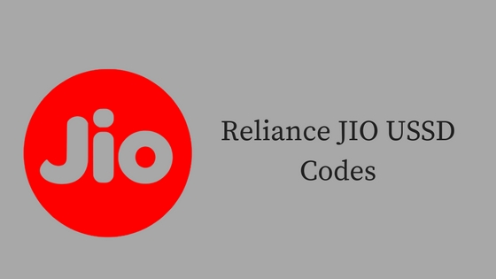 Reliance JIO USSD Codes