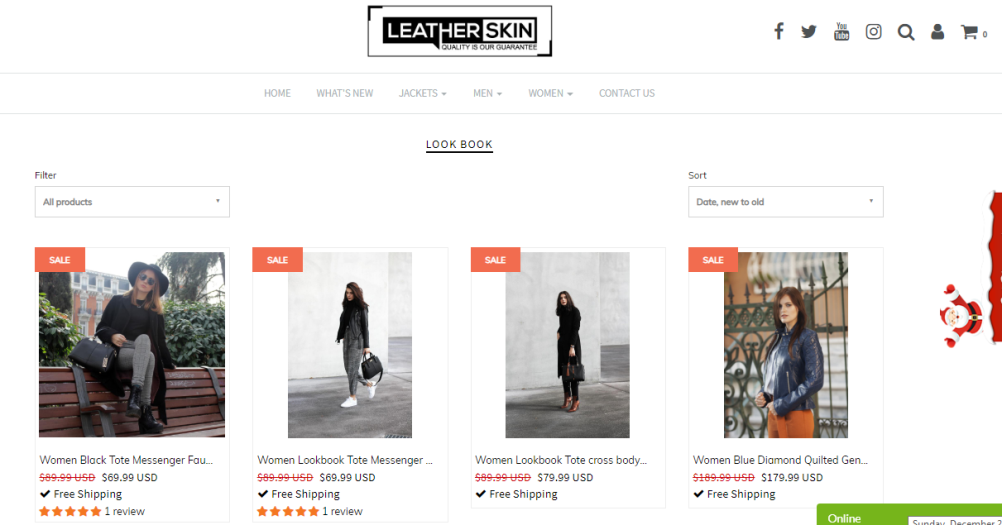 online leather jacket store