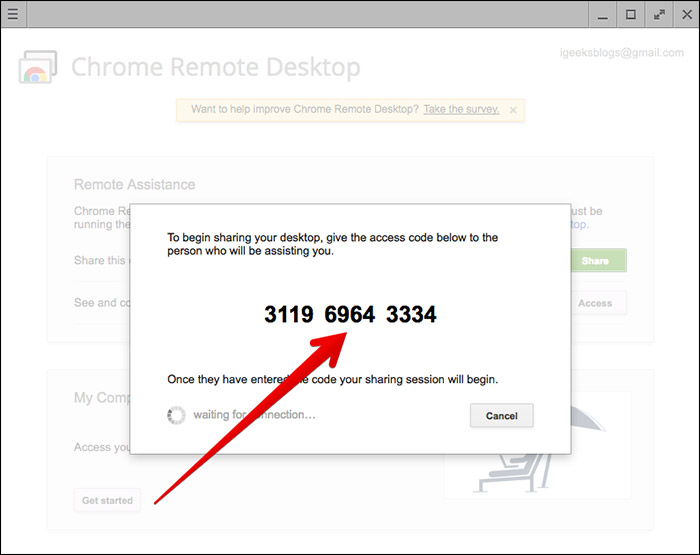 Code to Use Chrome Remote Desktop on Mac and Windows
