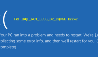 IRQL NOT LESS OR EQUAL
